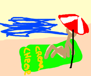 Cream cheese sponsored beach towell