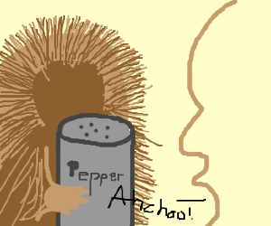 alergy to porcupines who love pepper