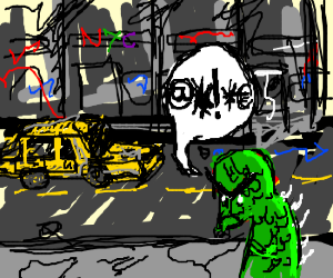 Angry monster in New York