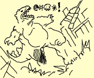 Foul Mouthed Godzilla attacks NYC