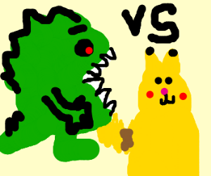 Lizard Pac-Man Vs Pikachu