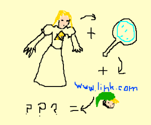 Zelda searchs for Link in the internet