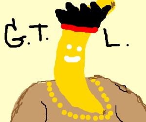 Guido with a banana head