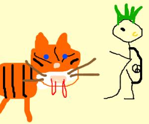 Psycho tiger killer scares punk boy.