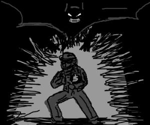 Burglar caught by Batman