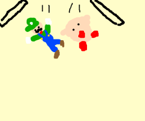 Luigi and Kirby fall out