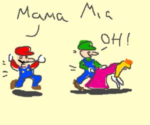 Luigi caught w/his boss's wife