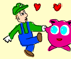 Luigi's (no stache) date with Jigglypuff