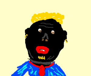 Black blond man