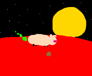 The only life on Mars is pig farting.
