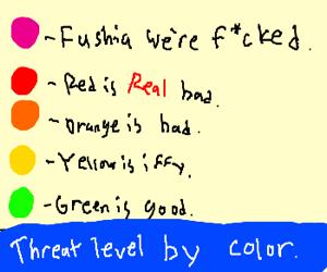 Threat Level Fuchsia!