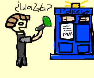 Dr. Who, reporter on the scene.