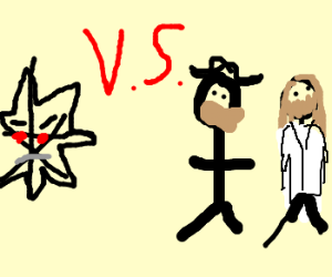 Mecha Starfish vs Chuck Norris and Jesus