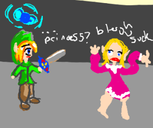 Link finds princess - she's awful