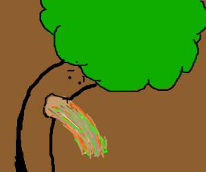 A tree vomiting diarea