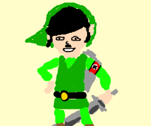 Hitler becomes Link for cosplay.