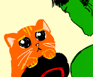 hulk is not angry about kitties