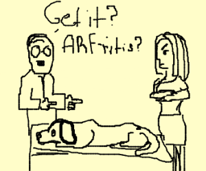 Your dog has... ARF-ritis :(