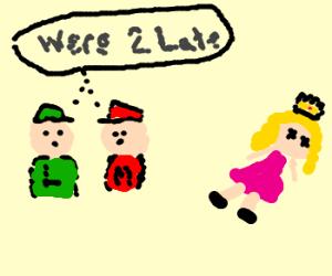 mario and luigi discover dead princess