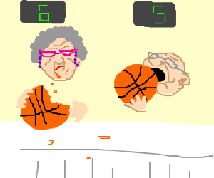 Senior citizens' Basketball Eat-athon