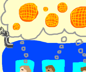 the passengers of a bus dream of waffles