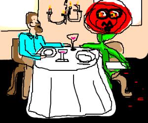 man dates giant monsterous rose