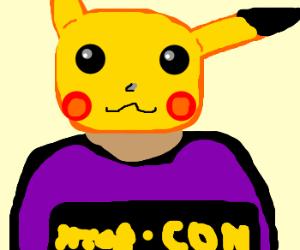 Pikachu cosplay as a Furry