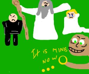 Gandalf MarriesCouple; Gollum StealsRing