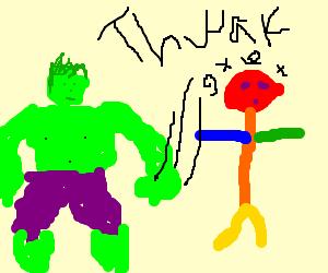 Hulk befriends crushing Gay Pride Boy.