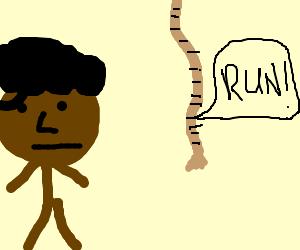 Hanging rope shouts run to negro man