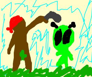 Child gangsters shoot Alien