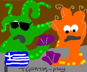 Greek monsters play poker