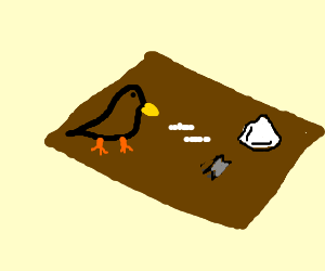 Bird using drugs