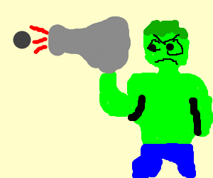 Hulk fires a cannon!