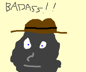 Hatted Boulder thinks he's a Badass