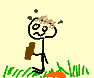 drunk guy sitting in the grass