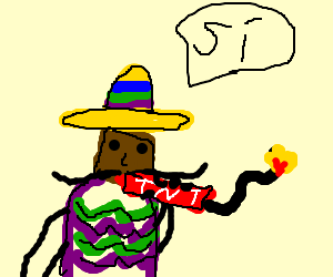 Mexican smoking a TnT tube