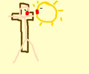 jesus loves sunkist when on the cross