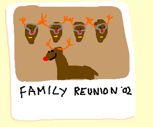 Rudolph's family reunion snapshot