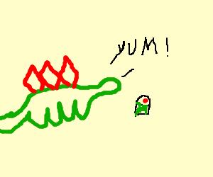 Stegosaurus finds sushi delicious