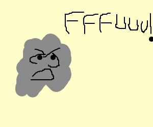 gray mass screams FFFUUU