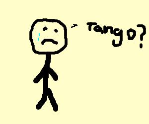 Sad man needs tango partner