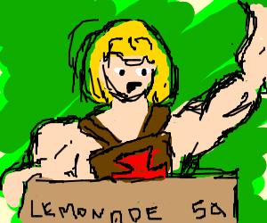 He-man has a lemonade stand