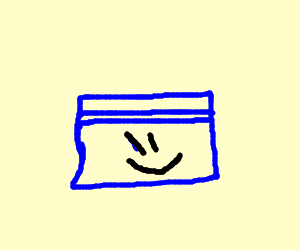 A happy blue box (: