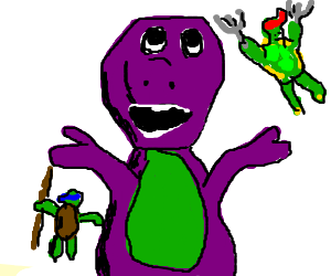 Ninja Turtles v Barney the Dinosaur