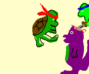 Ninja turtles killing Barney