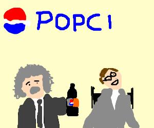 Einstein and steven hawking hold a popci