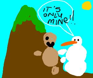 it's huming, snowmen build humans