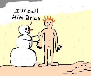 Snowman creating a human