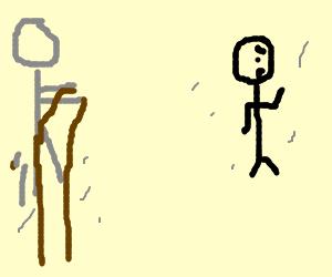 Escape zombie with stilts